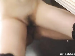 Busty girl with hot Asian ass owned from behind
