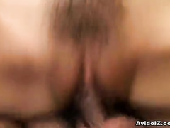 Round titted girlie dick sucking and riding fun