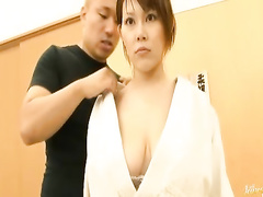 Emotionless Japanese is being kissed and harassed