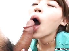 Man hiding rod in Asian girl's mouth and cunt