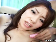 Men stretching Asian legs and playing with pussy