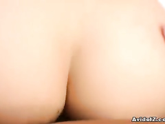 Babe gets her ass close up shot when riding member
