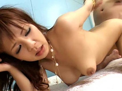 Busty girl stays in doggy and gets pounded anally