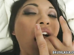 Deepest blowjob followed by the hard anal fuck