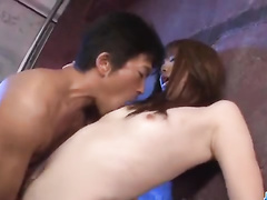 Man keeps licking Asian cunt while she's doing bj
