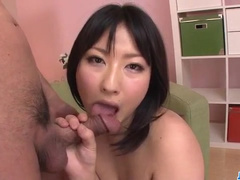 Asian doll masturbates for her excited lover