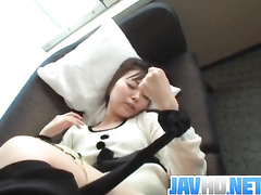 Japanese girl POV masturbation and fuck