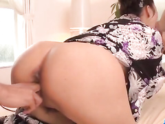 Guys finger fuck and cock fill cute Asian babe