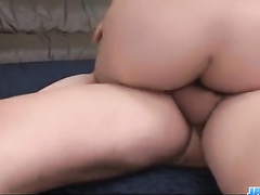 Skinny Asian babe is being satisfied by two fuckers