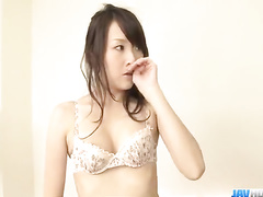 Beautiful Asian photographer chick gets pounded by by two fuckers
