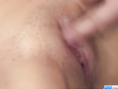Skinny Asian babe pleasantly fondles two dicks