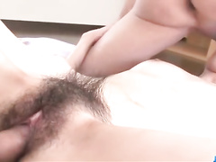 Skinny Asian babe enjoys hardcore double penetration fuck