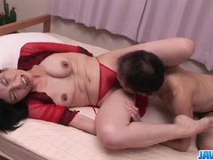 Cute young Asian chick is getting licked and fucked hot by mature fucker