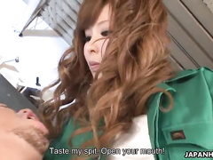 Elegant Japanese chick swallows a dick in the close-up