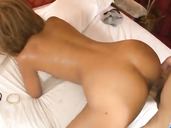 Hungry dude is getting hotly excited with awesome blowjob