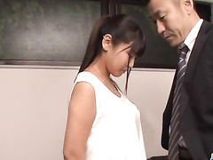 Japanese student chick has to fuck with teacher for better grade