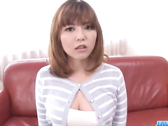 Appetizing cutie chick is sitting getting pussy masturbated