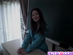 Sexy Japanese teacher gets seduced to fuck hot by handsome guy