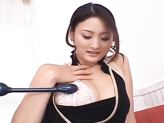 Impressive hot young Japanese babe is pleasuring passionate fuck