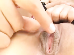 Skinny chick got cuffed and having two fuckers excitingly licking her
