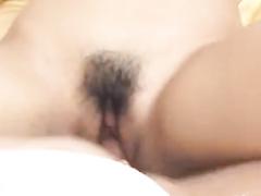 Girl in sexy underwear is pleasuring hot threesome fuck