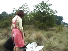 Asian chick comes to picnic with fuck hungry boyfriend
