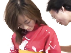 Skinny Japanese girl gets fingered and fucked hard