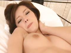 Bald guy is hotly fondling young Asian chick before fucking her hard