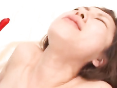 Japanese chick in Christmas suit is having exciting hardcore fuck