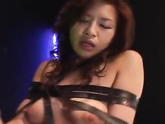 Amazingly sexy Japanese chick is pleasantly sucking big dick