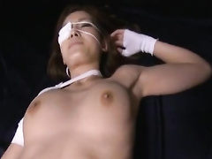 Tender skinned Japanese chick is getting her pussy stroked with sex toy