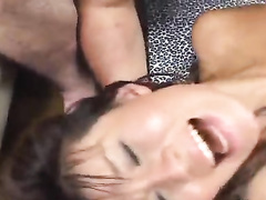 Precious Japanese chick is getting fucked hard by four guys
