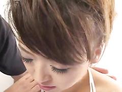 Skinny hot Asian brunette enjoys passionate hardcore fuck
