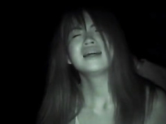 Asian babe gets seduced for fuck in train and gets pounded outdoors