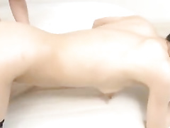 Slutty oriental chick enjoys being fucked hard and licks asshole