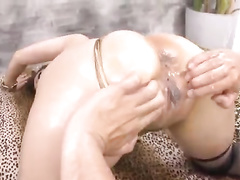 Oriental girl gets fingered before sucking dick