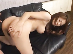 Charming hot Japanese girl gets pleasantly masturbated